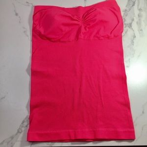 Pink Top | Strapless | Elastic